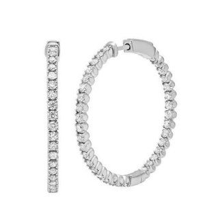 Jewelry - White gold 14k sparkling 3.50 carats diamonds wome